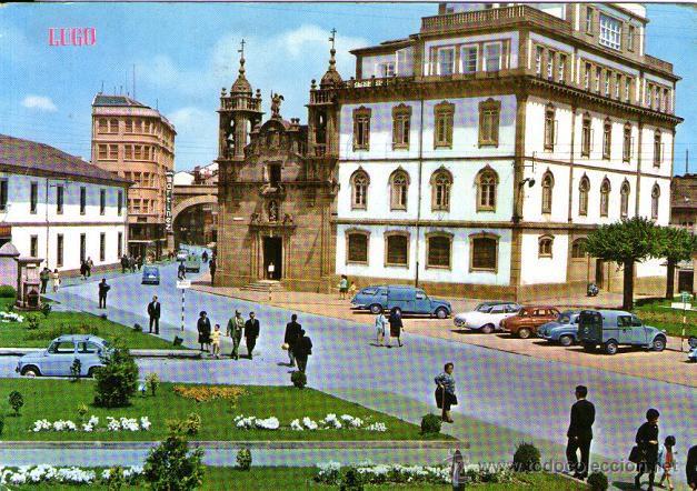 LUGO - 373 CALLE Y PUERTA DE SAN FERNANDO - IGLESIA DE SAN FROILÁN (Postales - España - Galicia Moderna (desde 1940))