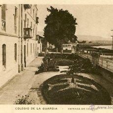 Postales: RARA POSTAL DEL COLEGIO DE LA GUARDIA - PONTEVEDRA - GALICIA - .. ENTRADA DEL COLEGIO. Lote 47042507