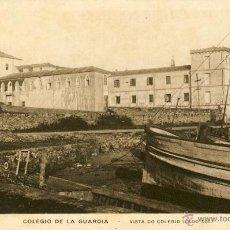 Postales: RARA POSTAL DEL COLEGIO DE LA GUARDIA - PONTEVEDRA - GALICIA - .. ENTRADA DEL COLEGIO LADO SUR. Lote 47042524