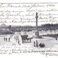 Postales: TARJETA POSTAL LA CORUÑA PARQUE DE MENDEZ NUÑEZ - FERRER - CIRCULADA 1904. Lote 47045759