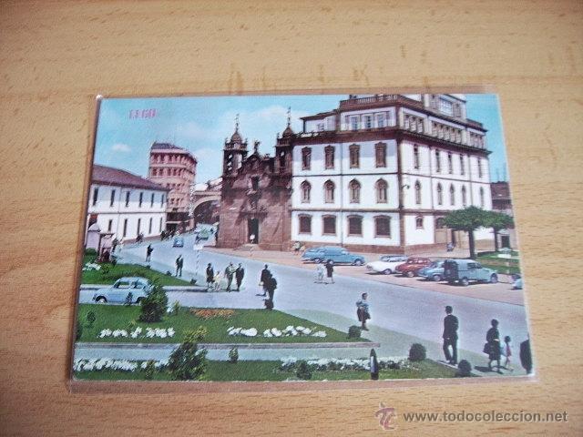 LUGO -- CALLE Y PUERTA DE SAN FERNANDO. IGLESIA DE SAN FROILAN -- (Postales - España - Galicia Moderna (desde 1940))