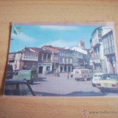 Postales: VIANA DEL BOLLO ( ORENSE ) PLAZA MAYOR Y CASTILLO. Lote 47288810