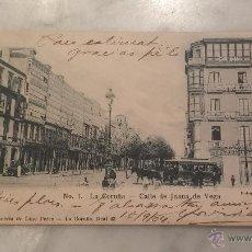 Postales: POSTAL , 7. LA CORUÑA - CALLE DE JUANA DE VEGA , FOTOGRAFIA J. GONZALEZ , CIRCULADA .. Lote 47310673