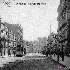Postales: POSTAL DE VIGO - AVENIDA GARCIA BARBON - TETILLA AÑOS 10 - RARA. Lote 47386310
