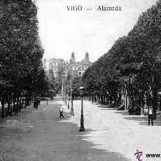 Postales: POSTAL DE VIGO - ALAMEDA - TETILLA AÑOS 10 - RARA. Lote 47386338