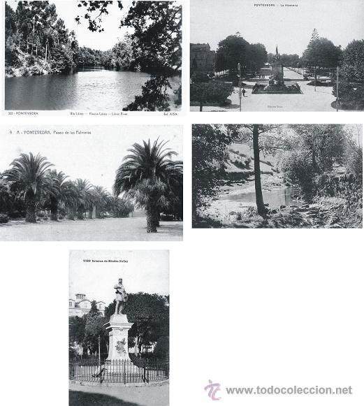 Postales: LOTE 11 POSTALES ANTIGUAS DE GALICIA: VIGO, PONTEVEDRA, BETANZOS, MONDOÑEDO, VERIN - Foto 2 - 47468823
