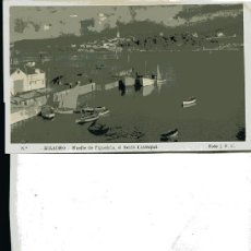 Postales: POSTAL RIBADEO (LUGO) MUELLE DE FIGUEIRUA AL FONDO CASTROPOL. Lote 47590432