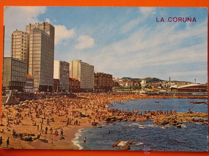 POSTAL - CORUÑA - PLAYA RIAZOR - ARRIBAS - NO CIRCULADA (Postales - España - Galicia Moderna (desde 1940))