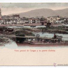 Postales: VISTA GENERAL DE CANGAS Y SU PUERTO. PONTEVEDRA. GALICIA.. Lote 48487055