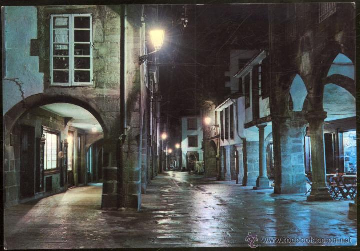 2057- SANTIAGO DE COMPOSTELA.- RUA DEL VILLAR. NOCTURNA. (Postales - España - Galicia Moderna (desde 1940))