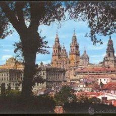 Postales: 2080 - SANTIAGO DE COMPOSTELA.- LA CATEDRAL DESDE EL PASEO DE LA HERRADURA.. Lote 48491109