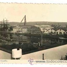 Postales: CORUÑA EL FERROL DEL CAUDILLO. VISTA PARCIAL DEL ARSENAL. EDIC. ARRIBAS. CIRCULADA. Lote 48521819