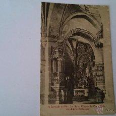 Postales: POSTAL SANTUARIO DE NTRA SRA DE LOS MILAGROS DEL MONTE MEDO VISTA INTERIOR DEL TEMPLO - NO CIRCULADA. Lote 48840511