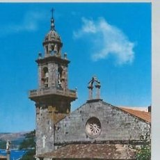 Postales: 2 MUROS LA CORUÑA IGLESIA PARROQUIAL, ED. ARRIBAS. Lote 48884845