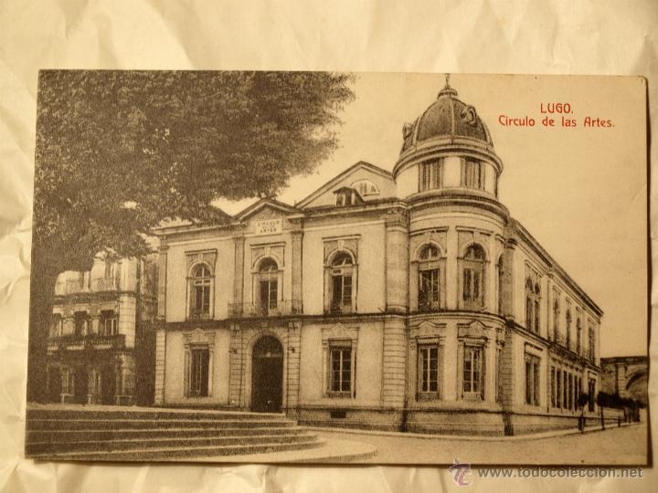LUGO. CÍRCULO DE LAS ARTES. TARJETA POSTAL. CIRCA. 1915. (Postales - España - Galicia Moderna (desde 1940))