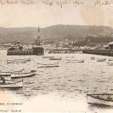 Postales: VIGO Nº 1587 MUELLE DEL COMERCIO HAUSER Y MENET CIRCULADA EN 1904. Lote 49001762