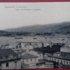 Cartes Postales: VIGO. EL PUEBLO Y LA BAHIA. (HAUSER Y MENET). PAPELERIA R. VICETTO.. Lote 49179383