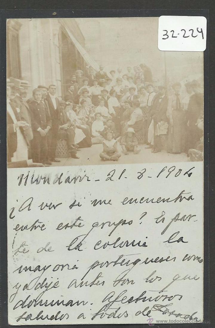 MONDARIZ - FOTOGRAFICA - REVERSO SIN DIVIDIR - (32224) (Postales - España - Galicia Antigua (hasta 1939))