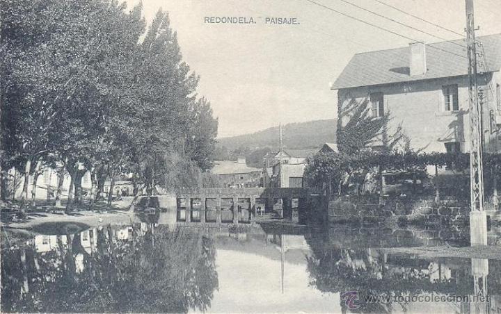 RARA POSTAL DE REDONDELA PONTEVEDRA EDITADA POR HAUSER Y MENET AÑOS10 - BUEN ESTADO (Postales - España - Galicia Antigua (hasta 1939))