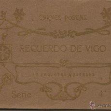 Postales: ALBUM POSTALES RECUERDO DE VIGO. SERIE 4ª. Lote 49467690