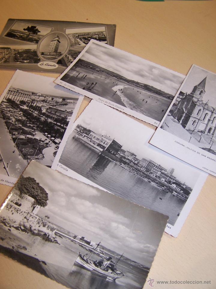 LOTE DE 6 POSTALES DE A CORUÑA. GALICIA. (Postales - España - Galicia Moderna (desde 1940))