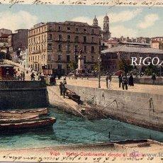 Postales: VIGO (PONTEVEDRA).- HOTEL CONTINENTAL DESDE EL MUELLE. Lote 49634331