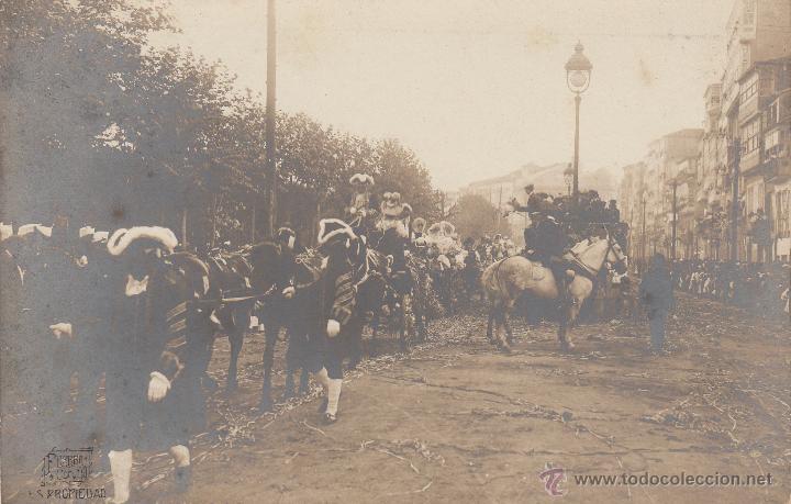 POSTAL FOTOGRAFICA LA CORUÑA -CARNAVALES- FOTO FERRER- ----EXCELENTE POSTAL----- (Postales - España - Galicia Antigua (hasta 1939))