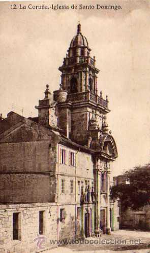 LA CORUÑA Nº 12 IGLESIA DE SANTO DOMINGO SIN CIRCULAR HELIOTIPIA DE HALLMEYER Y GAUTIER MADRID (Postales - España - Galicia Antigua (hasta 1939))