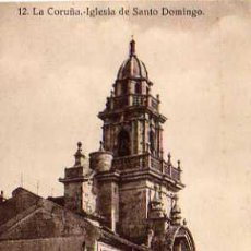 Postales: LA CORUÑA Nº 12 IGLESIA DE SANTO DOMINGO SIN CIRCULAR HELIOTIPIA DE HALLMEYER Y GAUTIER MADRID . Lote 49904353