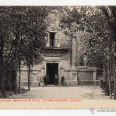 Postales: SANTIAGO. SANATORIO DE CONJO. ENTRADA DEL EDIFICIO ANTIGUO.. Lote 50025696
