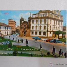 Postales: POSTAL DE LUGO. CALLE Y PUERTA DE SAN FERNANDO. IGLESIA DE SAN FROILAN. TDKP3. Lote 50688000