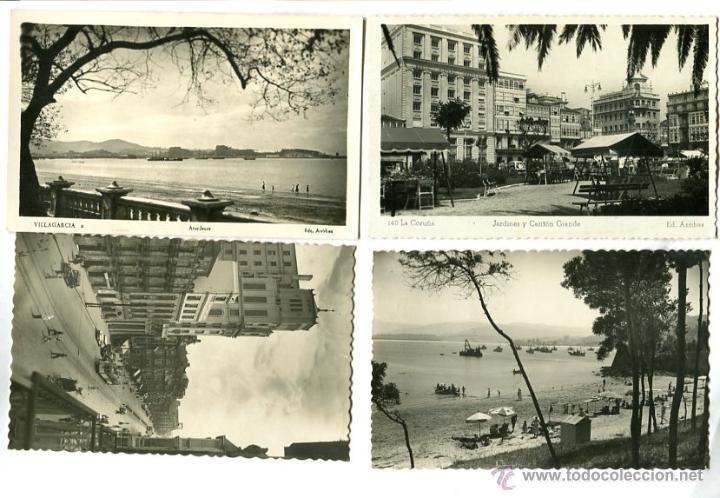 CUATRO POSTALES ANTIGUAS DE GALICIA (Postales - España - Galicia Moderna (desde 1940))