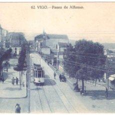 Postales: VIGO PASEO DE ALFONSO. Lote 45627380