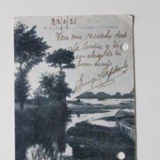 Postales: POSTAL LA CORUÑA UN PAISAJE DE SANTA CRUZ 1921. Lote 51003198