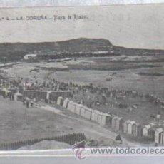 Postales: TARJETA POSTAL DE LA CORUÑA - PLAYA DE RIAZOR. 4ª SERIE. Nº 4. EDITORIAL FERRER. Lote 51019750