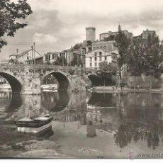 Postales: MONFORTE DE LEMOS - PUENTE ROMANO Y CASTILLO - Nº 51 ED. ARRIBAS. Lote 51376689