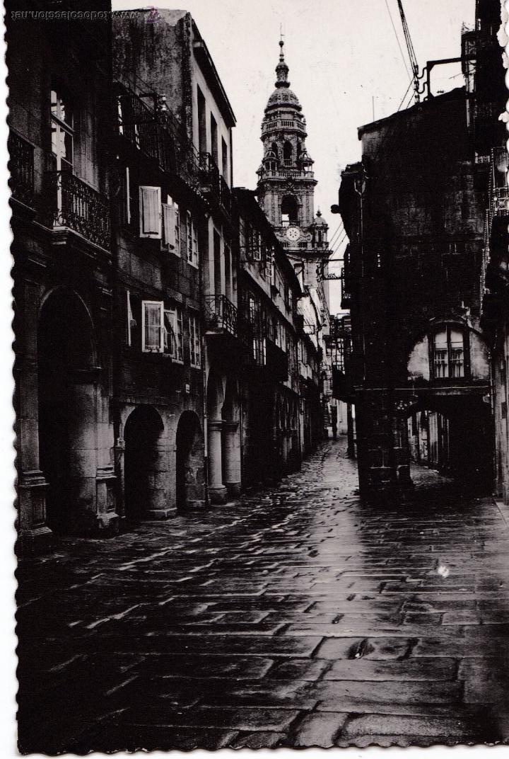 P-2712. POSTAL SANTIAGO DE COMPOSTELA Nº2 RUA DEL VILLAR. (Postales - España - Galicia Antigua (hasta 1939))
