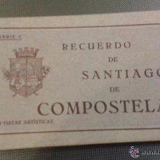 Postales: RECUERDO DE SANTIAGO DE COMPOSTELA. SERIE C. 20 VISTAS ARTÍSTICAS. EL SOL PAPELERIA. 20 POSTALES.. Lote 51837224