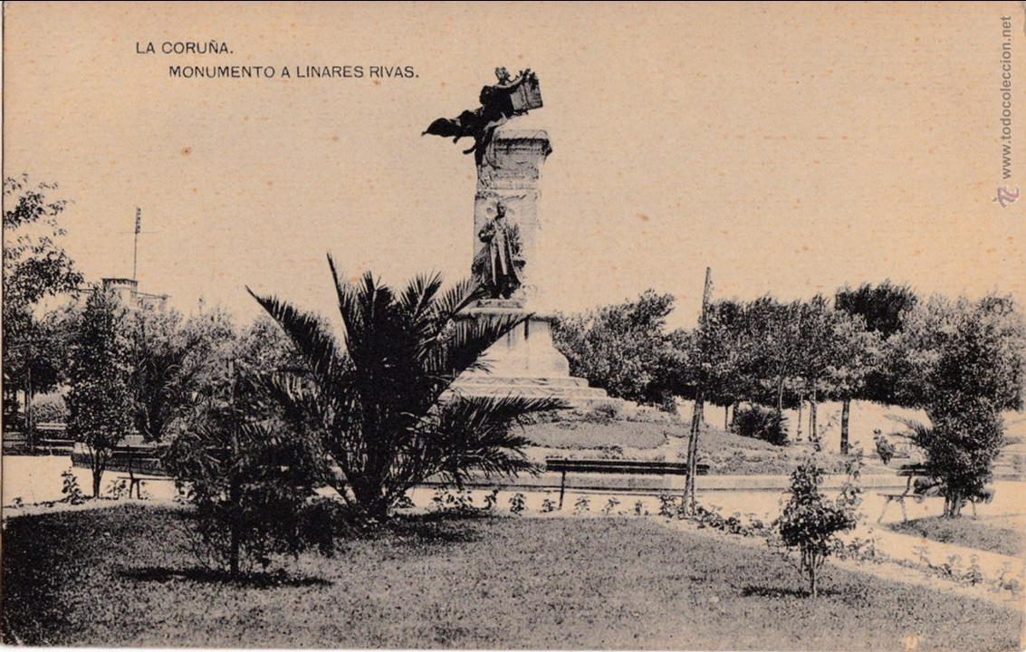 P- 2811. POSTAL LA CORUÑA. MONUMENTO A LINARES RIVAS. (Postales - España - Galicia Antigua (hasta 1939))