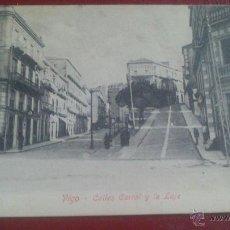 Postales: POSTAL DE VIGO (PONTEVEDRA) CALLE CARRAL Y LA LAJE.. Lote 51932591