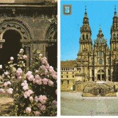 Postales: SANTIAGO DE COMPOSTELA 2 POSTALES DE 1965 Y 1976. Lote 52319285