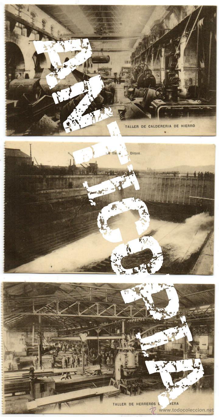 Postales: 9 postales de herreros de ribera, muy posiblemente de Ferrol (La Coruña). Año 1909. Muy raras. - Foto 2 - 52480713