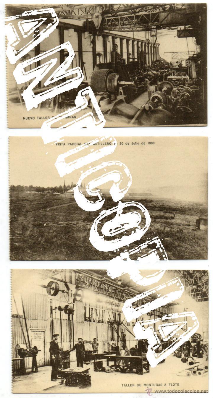Postales: 9 postales de herreros de ribera, muy posiblemente de Ferrol (La Coruña). Año 1909. Muy raras. - Foto 3 - 52480713