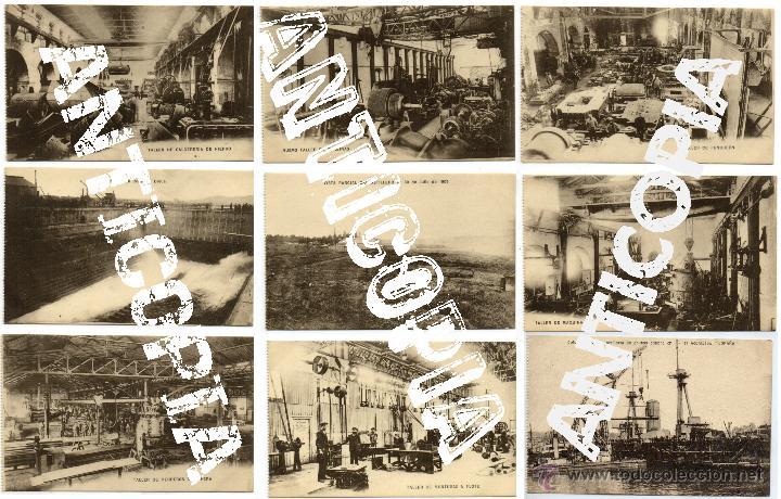 9 POSTALES DE HERREROS DE RIBERA, MUY POSIBLEMENTE DE FERROL (LA CORUÑA). AÑO 1909. MUY RARAS. (Postales - España - Galicia Antigua (hasta 1939))