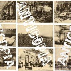 Postales: 9 POSTALES DE HERREROS DE RIBERA, MUY POSIBLEMENTE DE FERROL (LA CORUÑA). AÑO 1909. MUY RARAS.. Lote 52480713