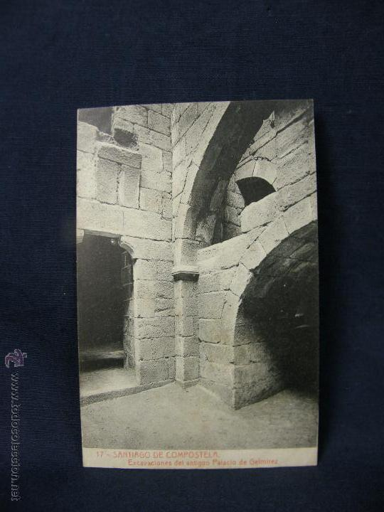 POSTAL GALICIA 17 SANTIAGO DE COMPOSTELA EXCAVACIONES DEL ANTIGUO PALACIO DE GELMIREZ FOT THOMAS (Postales - España - Galicia Antigua (hasta 1939))