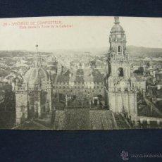 Postales: POSTAL GALICIA 29 SANTIAGO DE COMPOSTELA VISTA DESDE LA TORRE DE LA CATEDRAL FOT THOMAS BARCELONA. Lote 52594019