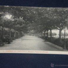 Postales: POSTAL GALICIA 2 SANTIAGO DE COMPOSTELA A. HERRADURA PASEO DE LA BOVEDA FOT THOMAS BARCELONA. Lote 52619567