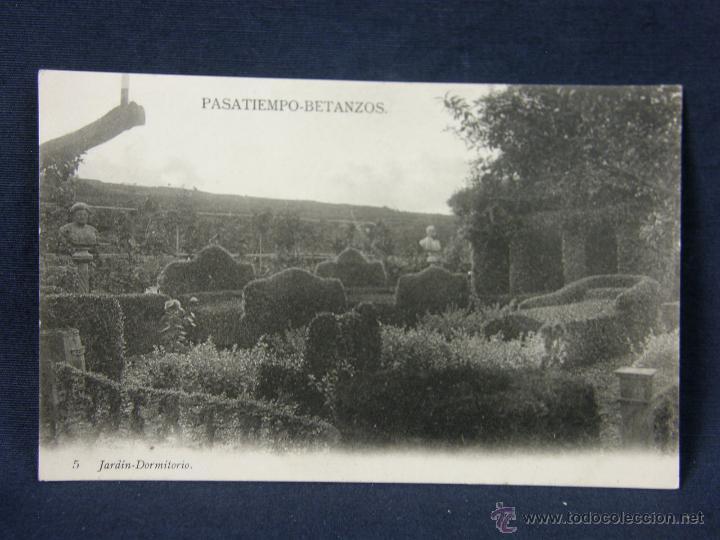 POSTAL GALICIA PASATIEMPO BETANZOS 5 JARDIN DORMITORIO NO FOT NO EDIT (Postales - España - Galicia Antigua (hasta 1939))