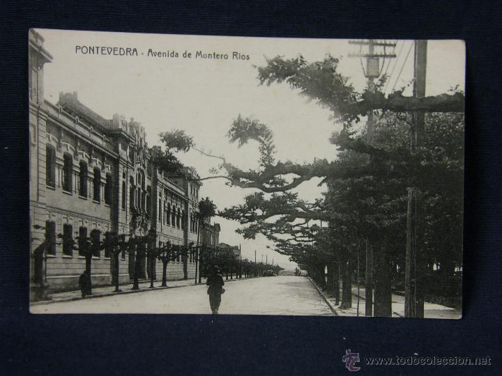POSTAL GALICIA AVENIDA DE MONTERO RIOS NO EDIT NO FOT (Postales - España - Galicia Antigua (hasta 1939))